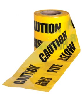 Caution Gas Pipe Below Warning Tape