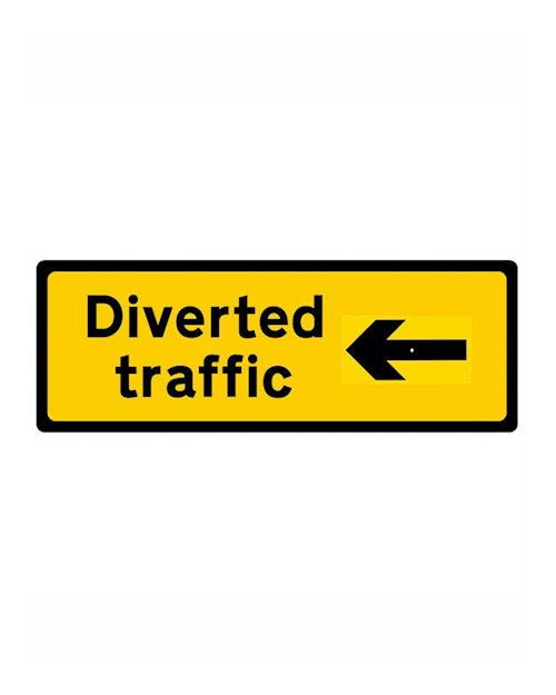Diverted Traffic Sign In Frame Chapter 8 Red Book