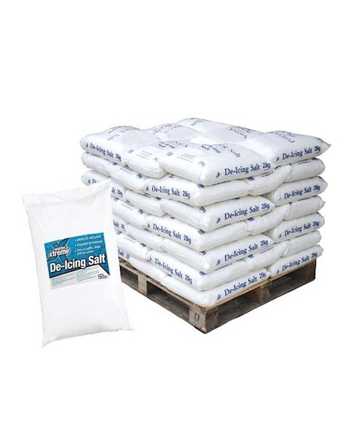 De-Icing Rock Salt 25kg - Pallet of 42 Bags