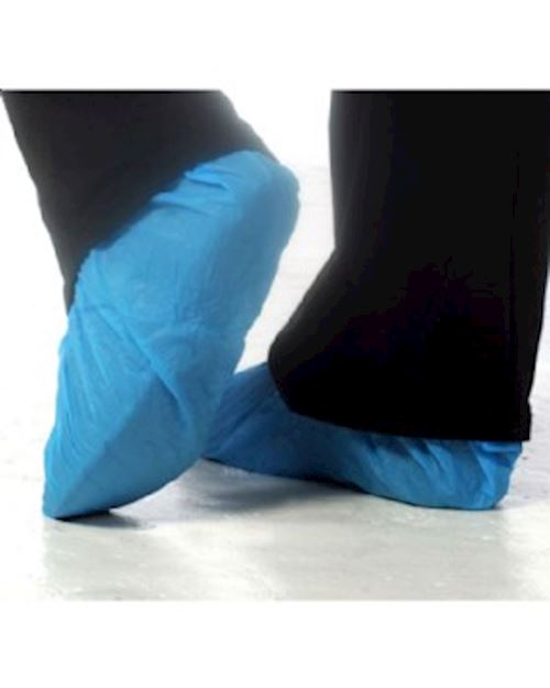 Disposable Overshoes (50 Pairs) Blue PE