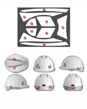 JSP Reflective Sticker Kit For Evo 2 & Evo 3 Safety Helmets