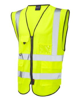 Hi Vis Waist Coat With Multi - Pockets For Phone, Pen, Id