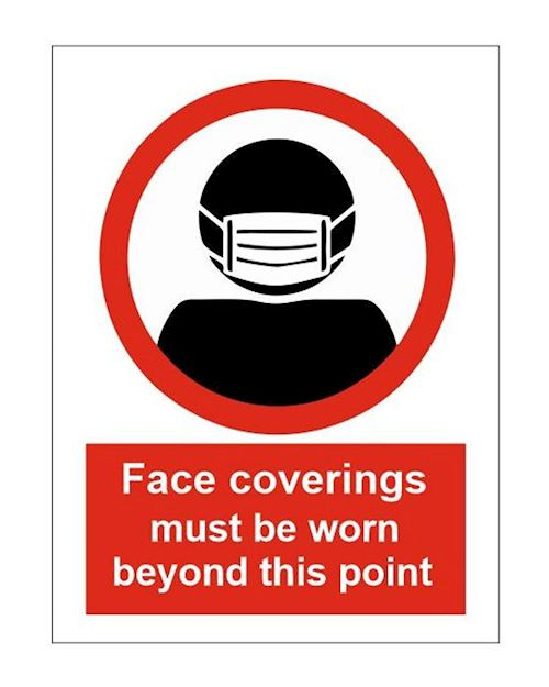 Face coverings must be worn - A4 Sign