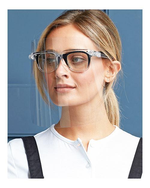 Protective Face Visor On Spec Frame