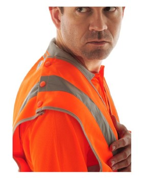 High Visibility Tear Apart Waist Coat Class 2 EN510