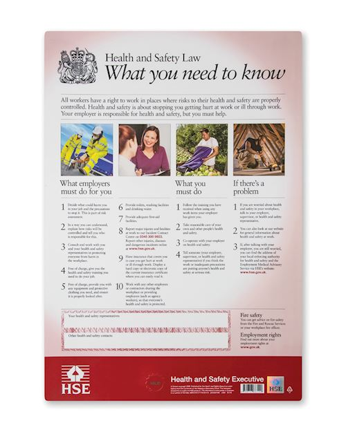 Health & Safety Law Wall Chart - Semi Rigid Plastic A2
