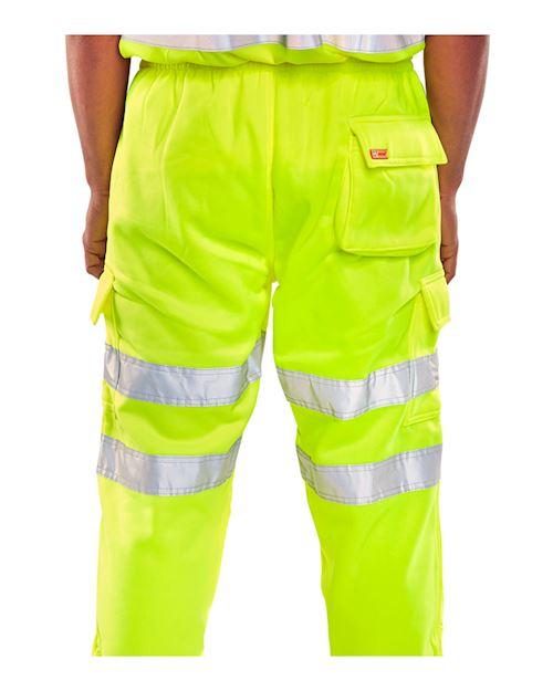 Hi - Vis Yellow Jogging Bottoms  - Hi Vis Joggers