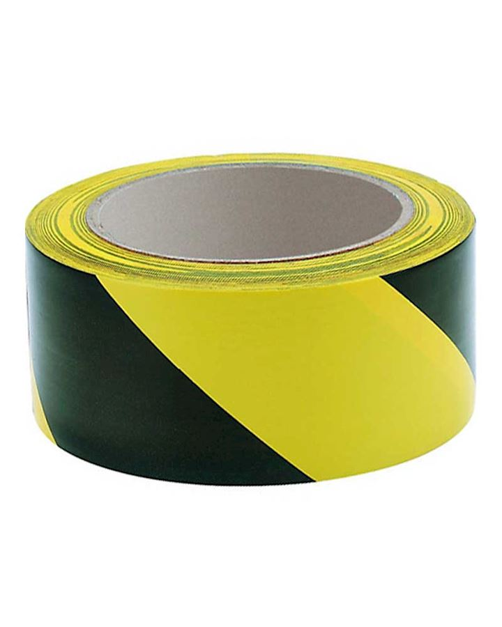 Yellow - Black Hazard Warning Adhesive Tape