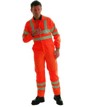 High Visibility Orange Boilersuit