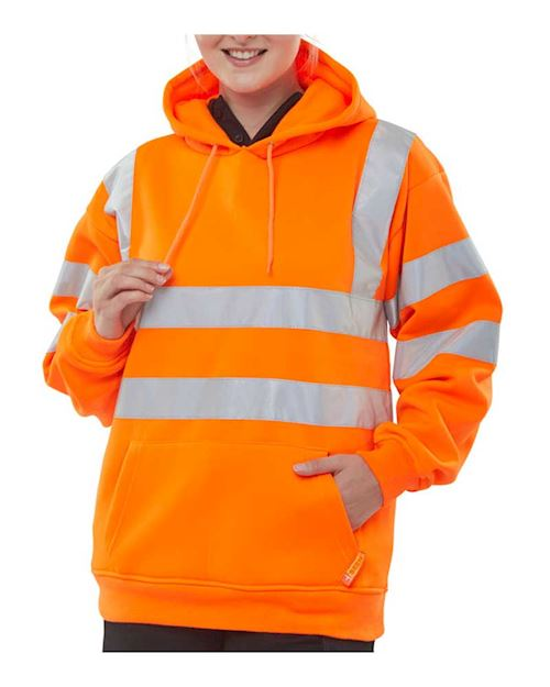 Hi-Vis Hoody Pull on Sweatshirts