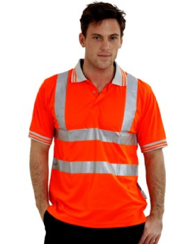 High Visibility Orange Polo Shirt Short Sleeved