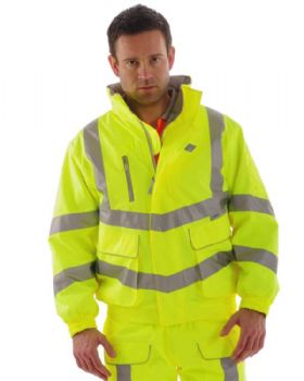 High Visibility Quilt Lined Breathable Bomber Jacket Class 3