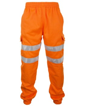 Hi - Vis Orange Jogging Bottoms  - Hi Vis RIS-3279-TOM  Joggers
