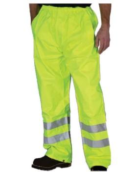 Hi Vis Yellow Waterproof Trouser - Breathable