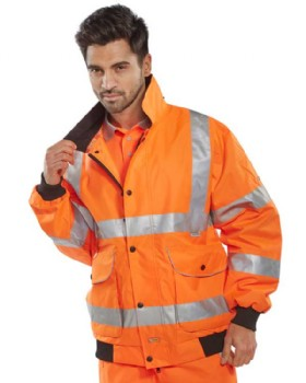 High Visibility Bomber Jacket Class 3 Orange
