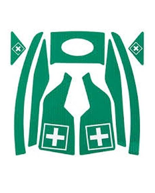 First Aider Green Reflective Sticker Kit For Vista Helmets