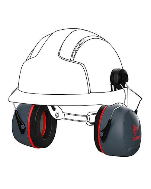 Sonis 3 Helmet Mounted Ear Defenders 36dB SNR