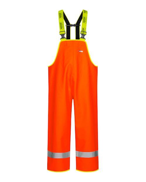 Heavy Duty Bib & Brace Oilskin Hi Vis Trouser