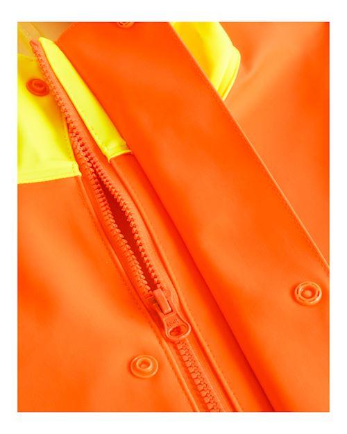Hi Vis Oilskin Jacket Heavy Duty