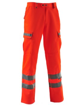 Women's Hi - Vis Orange Trousers Railtrack - RIS-3279-TOM