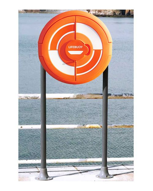 Lifebuoy Cabinet For 24 Inch Lifebuoys - Surface Mounted