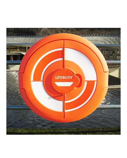 Lifebuoy Cabinet For 24 Inch Lifebuoys - Rail Mounted