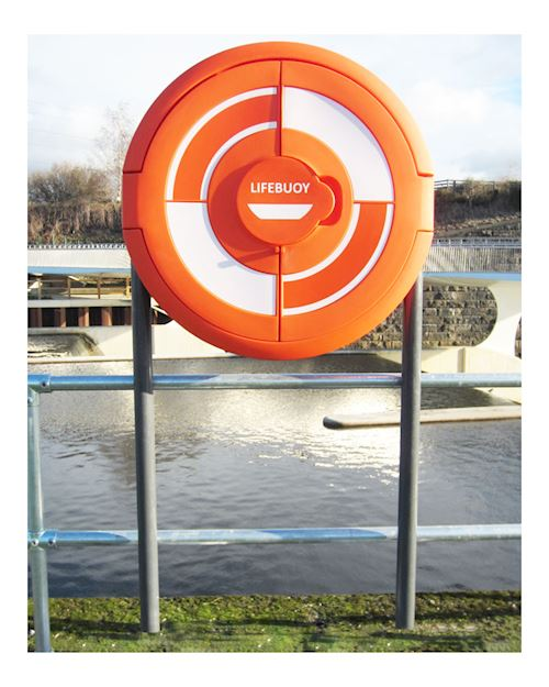 Lifebuoy Cabinet For 30 Inch Lifebuoys - Sub Surface Fix