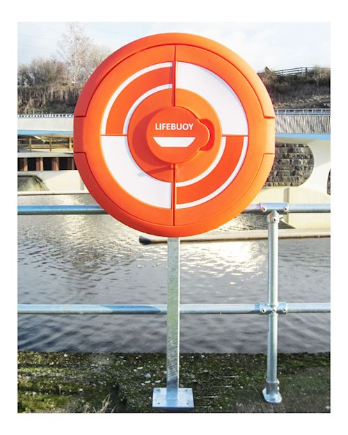 Lifebuoy Cabinet For 30 Inch Lifebuoys - Surface Mounted