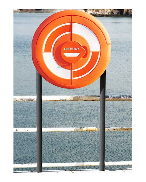 Lifebuoy Cabinet For 24 Inch Lifebuoys - Sub Surface Fix