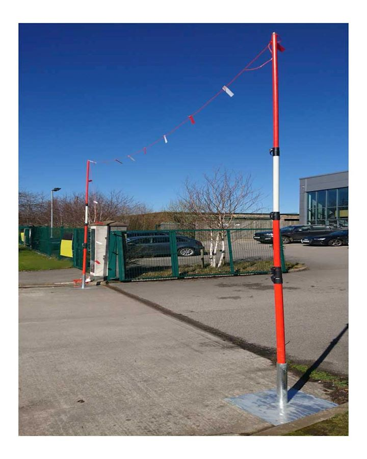 Telescopic Overhead Cable Goal Posts - Height Restrictor