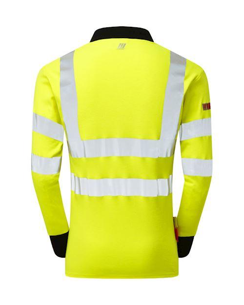 Flame Retardant Anti-Arc High Visibility Long Sleeve Polo Shirt