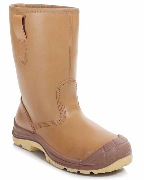 Tan Lined Rigger Boot - Fur Lined