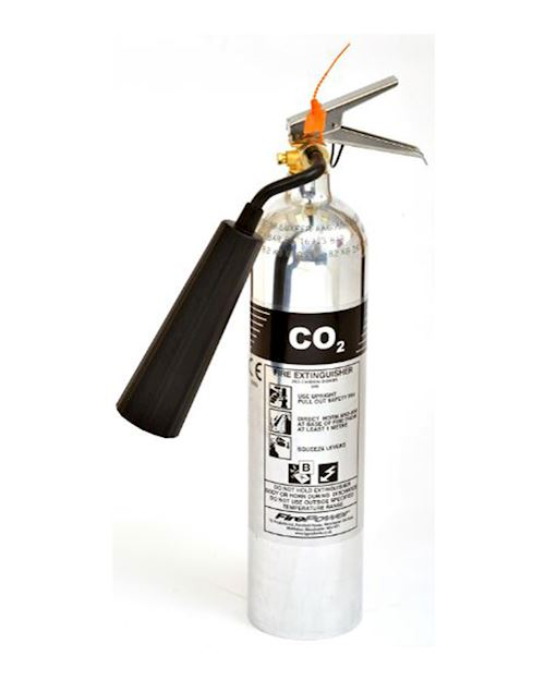 2kg Carbon Dioxide Polished Aluminium Extinguisher