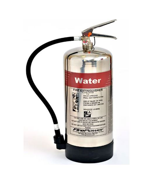 FirePower 6 Litre Water Polished Extinguisher