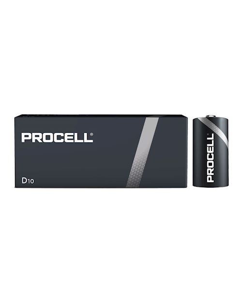 Procell Duracell Industrial D10 Alkaline Batteries 1.5V (Pack Of 10)