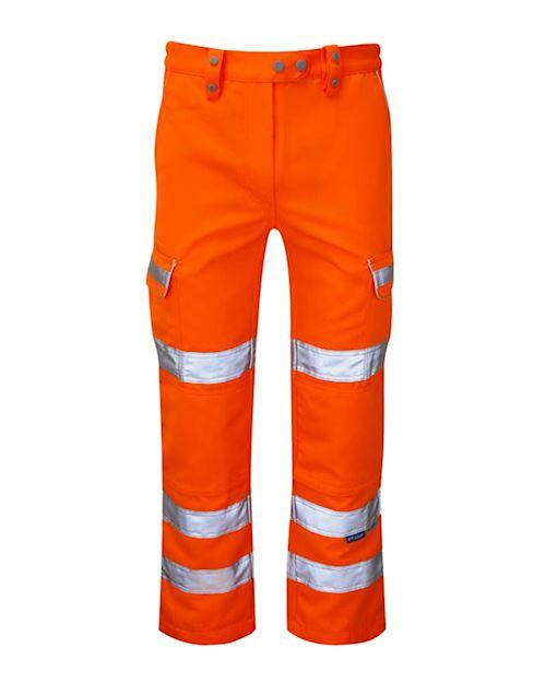 Ladies Hi Vis Orange Trousers Railtrack - RIS-3279-TOM