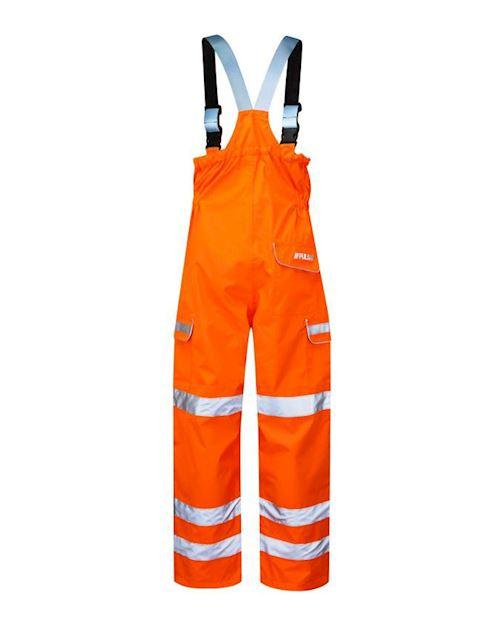 Waterproof Breathable Hi Vis Orange Salopette RIS-3279-TOM