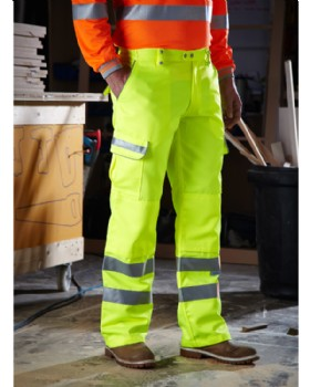 High-Vis Yellow Polycotton Teflon Coated Trousers Reg