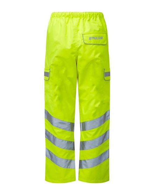 High Visibility Yellow Class 3 Waterproof Breathable Trousers