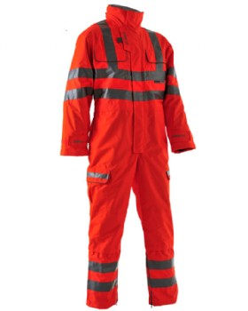 Hi-Vis  Waterproof Coverall Network Rail RIS-3279-TOM