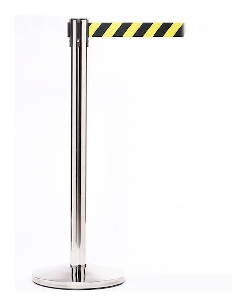 Queuemaster Retractable Barrier Post - Stainless