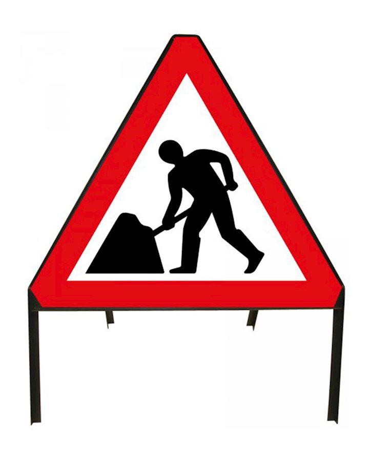 Road Sign Men At Work - Road Works Sign