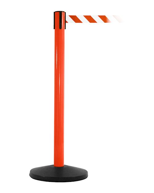 SafetyMaster Retractable Barrier Post - Red