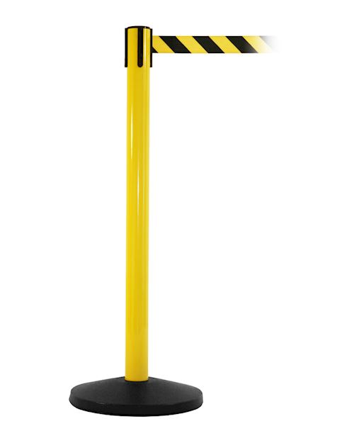 SafetyMaster Retractable Barrier Post - Yellow