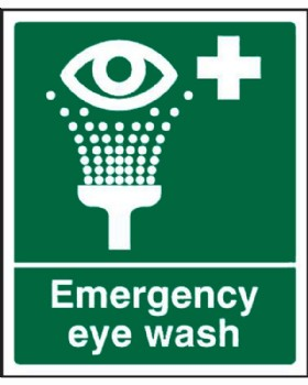 Eye Wash Sign Self Adhesive Vinyl