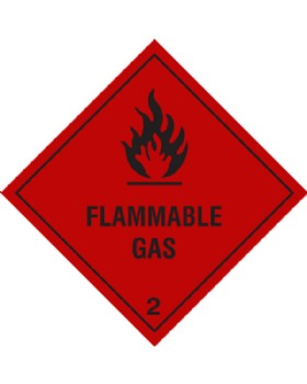 Flammable Gas Hazard Warning