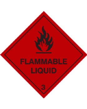 Flammable Liquid Hazard Warning