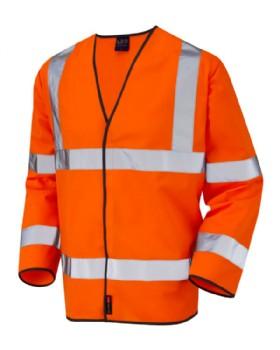 Hi Vis  Sleeved  Waist Coat Orange Class 3