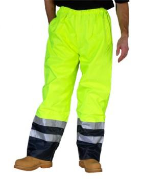 Hi - Vis Belfry Waterproof Trouser Saturn Yellow/ Blue