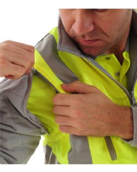 High Visibility Sleeved Body Warmer Class 2
